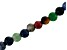 Multi-Stone Appx 8mm Faceted Round Large Hole Bead Strand Appx 8
