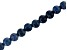 Dumortierite in Quartz Appx 8mm Faceted Round Large Hole Bead Strand Appx 8