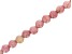 """Rhodonite Simulant Appx 8mm Faceted Round Large Hole Bead Strand Appx 7-8"""" Length"""