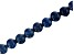 Dumortierite in Quartz Appx 10mm Round Large Hole Bead Strand Appx 8