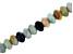 Multi-Color Quartzite Appx 10mm Rondelle Large Hole Bead Strand Appx 8