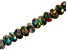 Mardi Gras Appx 10mm Rondelle Large Hole Bead Strand Appx 8
