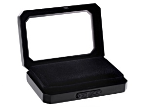 Gemstone Display Box Matte Black Finish 80 X 55 X 17mm With Reversible Black And White Cushion