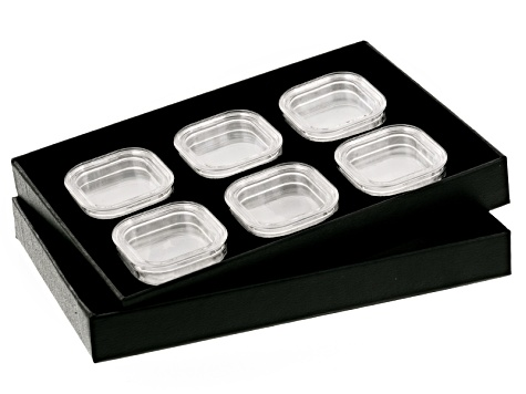 Gemstone Storage Tray With 6 Gemstone Storage Jars