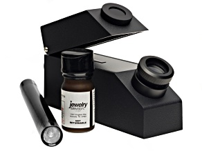 Gemvue Portable Refractometer With External Light Source And Ri Fluid.