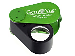 Rechargeable 10x Loupe in Green With Led And Uv Illumination By Gemvue