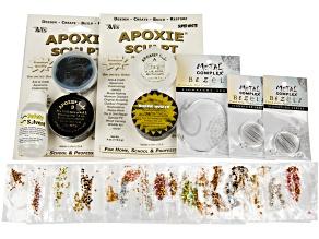 Silver Tone Bracelet W/ interchangeable Bezels Kit