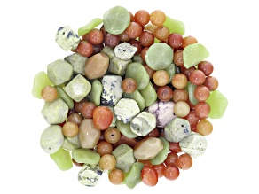 1 lb Mixed Stone Bead Parcel in assorted shapes, colors & sizes