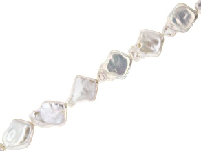 White Freshwater Pearl Kite appx 13-16mm Bead Strand appx 14-15