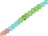 Mixed Opal Faceted appx 8-9mm Roundelle Bead Strand appx 8