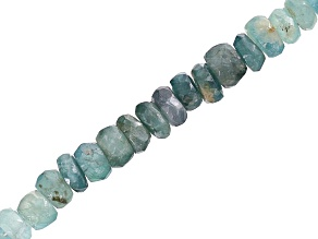 Grandiderite Graduated Faceted appx 3-5mm Rondelle Bead Strand appx 15-16