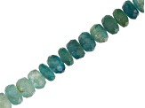 Grandiderite Graduated Faceted appx 4-5mm Rondelle Bead Strand appx 16