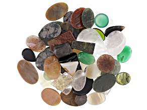 1lb. Cabochon Multi-Stone Parcel in assorted shapes & sizes