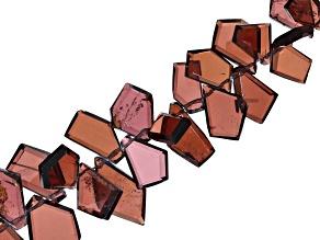 "Pyrope-Almandite Garnet Appx 4x6 - 9x14mm Crown Cut Fancy Shape Beads Appx 7-8"" Length"