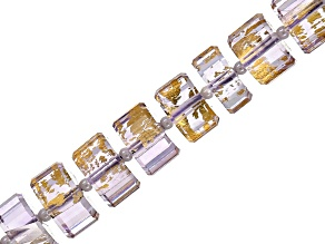 Gold Foil Rose de France Amethyst Appx 5x8-6x12mm Faceted Wheel Shape Bead Strand Appx 16