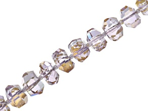 Gold Foil Rose de France Amethyst Appx 7-12mm Faceted Irregular Rondelle Bead Strand Appx 16