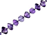 Amethyst Appx 9-13mm Twisted Rope Shape Bead Strand Appx 16