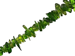Chrome Diopside Chip appx 3-7mm Bead Strand appx 32-36