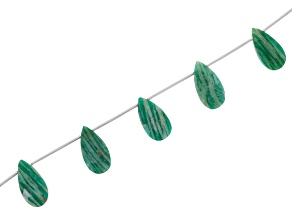Amazonite Faceted Pear Shape appx 10x20mm Bead Strand appx 16""