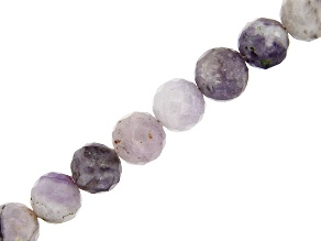 Purple Opal appx 5-6mm Faceted Round Bead Strand appx 18