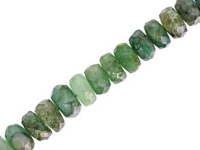 Sakota Emerald Graduated Faceted appx 3-5mm  Rondelle Bead Strand appx 15-16""