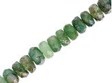Sakota Emerald Graduated Faceted appx 3-5mm  Rondelle Bead Strand appx 15-16