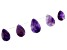 Amethyst Pear Shape Graduated appx 15x20-20x30mm Bead Strand appx 5