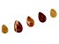 Mookaite Pear Shape Graduated appx 15x20-20x30mm Bead Strand appx 5