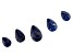 Sodalite Pear Shape Graduated appx 15x20-20x30mm Bead Strand appx 5""