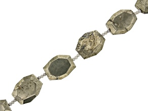 Pyrite Faceted Octagon Nuggets appx 25x32-34x43mm Bead Strand appx 15-16
