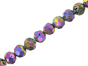 Druzy Agate Rainbow Faceted appx 8mm Round Bead Strand appx 8