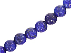 Lapis Lazuli Round appx 10mm Large Hole Bead Strand appx 8