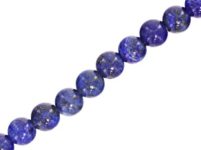 Lapis Lazuli appx 8mm Round Large Hole appx 2.5mm Bead Strand appx 8
