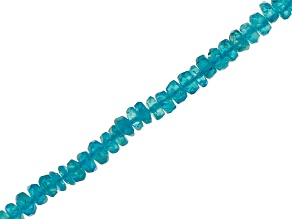 Neon Apatite Appx 3.5-4mm Faceted Rondelle Bead Strand Appx 13-14