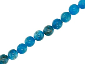 Blue Apatite Appx 7-8mm Round Bead Strand Appx 16