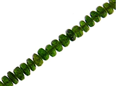 Chrome Diopside Graduated Rondelle appx 2-7mm Bead Strand appx 18