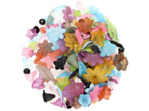 1/2 lb Resin Beads in 22 Assorted Shapes in Various Colors and Sizes