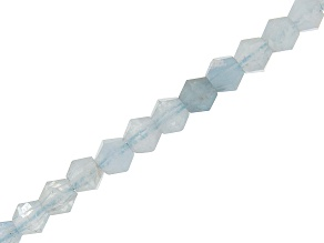 Aquamarine Faceted appx 3mm Bicone Bead Strand appx 15-16