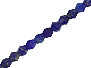 Lapis Lazuli Faceted appx 3mm Bicone Bead Strand appx 15-16