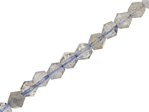 Labradorite Faceted appx 3mm Bicone Bead Strand appx 15-16