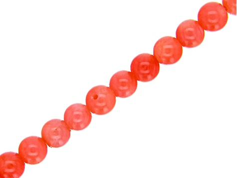 Pink Coral Round appx 4mm Bead Strand appx 15-16