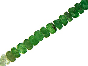 Tsavorite & Grossular Garnet Shaded Mix Faceted Rondelle appx 2.5-3.5mm Bead Strand appx 15-16""
