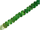 Tsavorite & Grossular Garnet Shaded Mix Faceted Rondelle appx 2.5-3.5mm Bead Strand appx 15-16