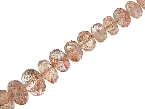 Sunstone Graduated Faceted Rondelle appx 4x2-8x4mm Bead Strand appx 16-18