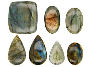 Labradorite Assorted Shapes & Sizes Cabochon appx 90 grams