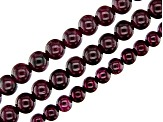 Garnet Round appx 3-5mm Bead Strand Set of 3 appx 15-16