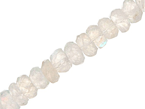 Rainbow Moonstone Faceted Rondelle appx 5-6mm Bead Strands appx 13.5-14