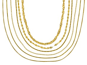 18K Gold Over Sterling Silver 20