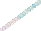 Multi-Color Beryl Faceted Appx 4.5-5.5mm Rondelle Bead Strand Appx 12-13