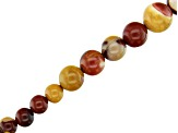 Mookaite Graduated Round appx 6-12mm Bead Strand appx 15-16